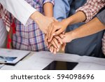 businessmen  architects ...   Shutterstock . vector #594098696