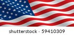 american flag flowing | Shutterstock .eps vector #59410309