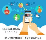 global data sharing data... | Shutterstock .eps vector #594103436