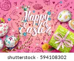 template vector card with... | Shutterstock .eps vector #594108302