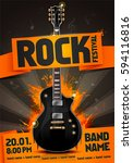 vector rock festival flyer... | Shutterstock .eps vector #594116816