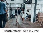 pair of professionals. full...   Shutterstock . vector #594117692