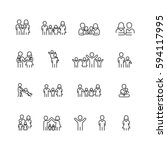 family icons set  vector | Shutterstock .eps vector #594117995
