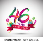 46th anniversary celebration... | Shutterstock .eps vector #594121316