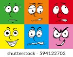 human faces on different colors ... | Shutterstock .eps vector #594122702