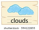 wordcard template for word... | Shutterstock .eps vector #594122855