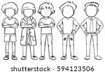 faceless man in different... | Shutterstock .eps vector #594123506