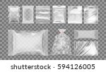 big set of transparent empty... | Shutterstock .eps vector #594126005