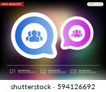 colored icon or button of users ... | Shutterstock .eps vector #594126692