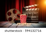 retro film production... | Shutterstock . vector #594132716