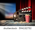 retro film production... | Shutterstock . vector #594132752