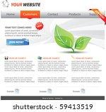 web 2.0 template | Shutterstock .eps vector #59413519