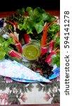 seafood salad dressing   Shutterstock . vector #594141278