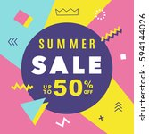 summer sale modern banner... | Shutterstock .eps vector #594144026