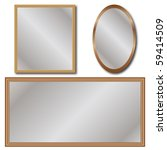 set of mirrors isolated | Shutterstock .eps vector #59414509