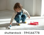 repair in the apartment. a... | Shutterstock . vector #594166778