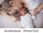 portrait of mother and her... | Shutterstock . vector #594167222