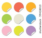round stickers in different... | Shutterstock . vector #59418013