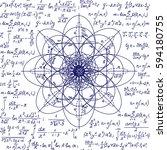 math scientific vector seamless ... | Shutterstock .eps vector #594180755
