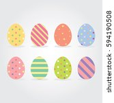 Easter Eggs Vector Illustration.