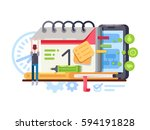planning and organization.... | Shutterstock .eps vector #594191828