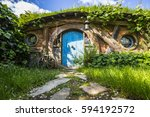 new zealand   hobbiton   movie... | Shutterstock . vector #594192572