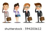 group of business men and women ... | Shutterstock .eps vector #594203612