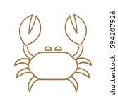 crab icon vector.   Shutterstock .eps vector #594207926