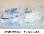 layette for newborn baby | Shutterstock . vector #594216656