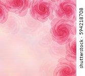 pink flower background | Shutterstock .eps vector #594218708