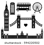 london icon set collection... | Shutterstock .eps vector #594220502