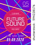 future sound music party... | Shutterstock .eps vector #594228176