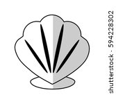 shell icon image | Shutterstock .eps vector #594228302