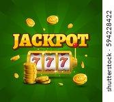 slot machine lucky sevens... | Shutterstock .eps vector #594228422