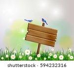 Advertisement Wooden Board On ...