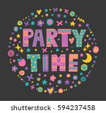 "word art ""party time"" with... 