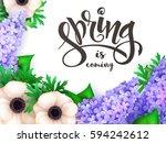vector illustration of spring...   Shutterstock .eps vector #594242612