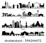 city silhouette  vector... | Shutterstock .eps vector #594244472