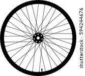 bicycle wheel vector icon | Shutterstock .eps vector #594244676