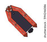 rescue boat icon | Shutterstock .eps vector #594246086