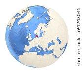 map of denmark on political...   Shutterstock . vector #594248045