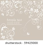 wedding floral card | Shutterstock .eps vector #59425000