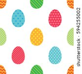 seamless easter vector pattern... | Shutterstock .eps vector #594255002