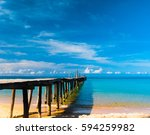 living is easy jetty to the... | Shutterstock . vector #594259982