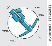pickaxe icon | Shutterstock .eps vector #594262856