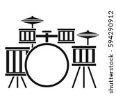 drum kit icon. simple... | Shutterstock . vector #594290912