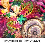 3d rendering combo artwork with ... | Shutterstock . vector #594292205