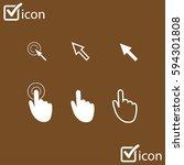 cursor pointer icons. click...