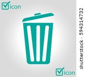 trash can icon. delete  move to ... | Shutterstock .eps vector #594314732