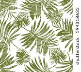 palm leaves pattern   Shutterstock .eps vector #594318632